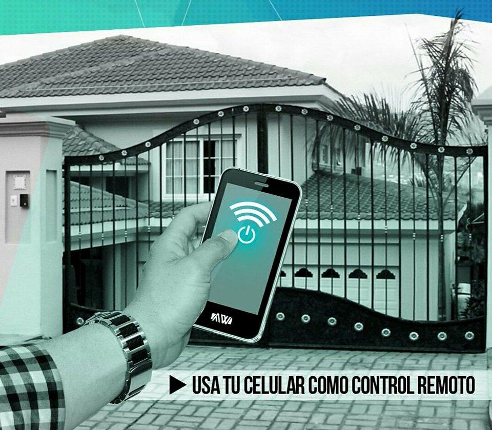 abrir portón eléctrico con celular