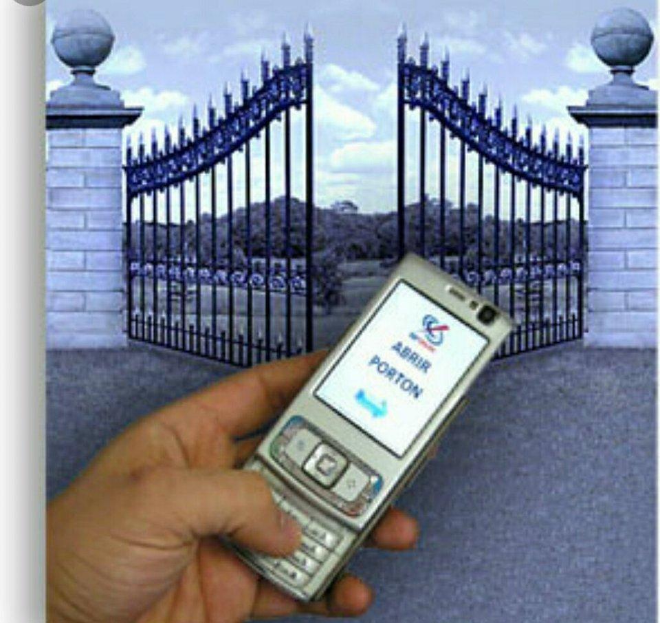 abrir un portón eléctrico con celular