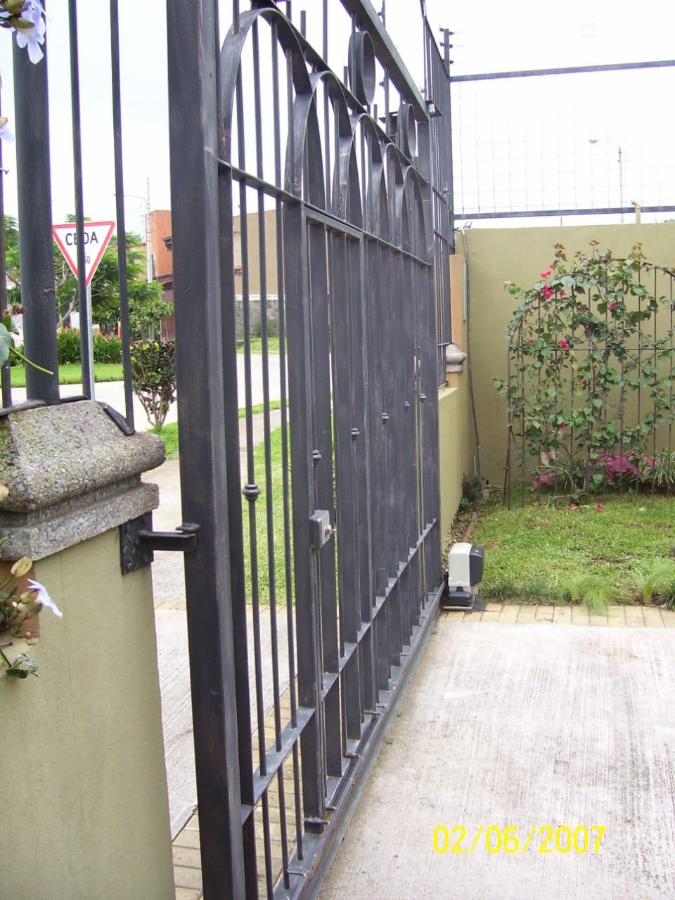 portón corredizo