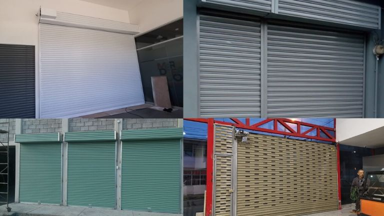 se observan fotos de cortinas instaladas en diferentes colores pape