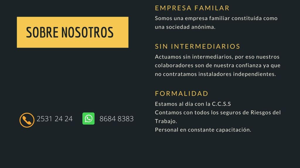 información sobre la empresa